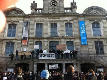 ACTA protest Lille, France. Photo from @MaherTekaya via Twitter